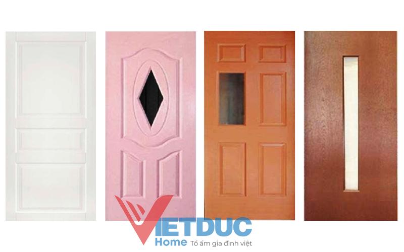 Cửa gỗ công nghiệp HDF được thiết kế đa dạng mẫu mã.