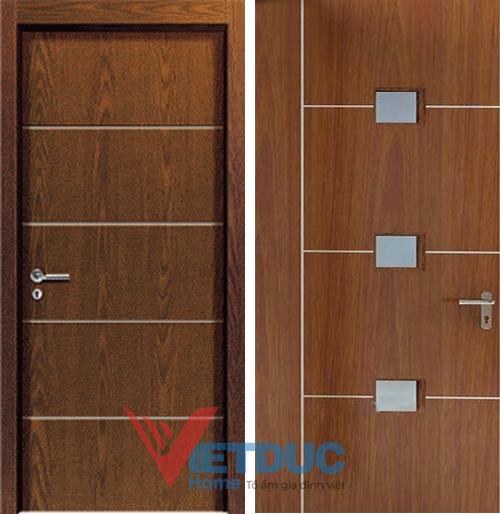 Mẫu cửa gỗ công nghiệp MDF Veneer đẹp