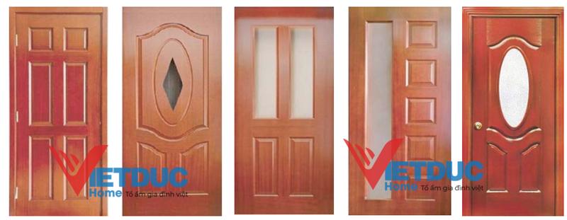 Cánh cửa gỗ công nghiệp HDF Veneer