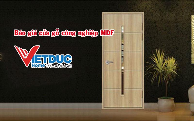 Báo giá cửa gỗ công nghiệp MDF các loại mới nhất