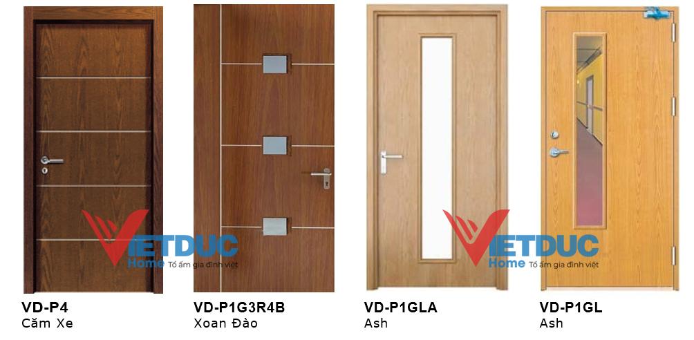Cửa đi gỗ công nghiệp MDF Veneer