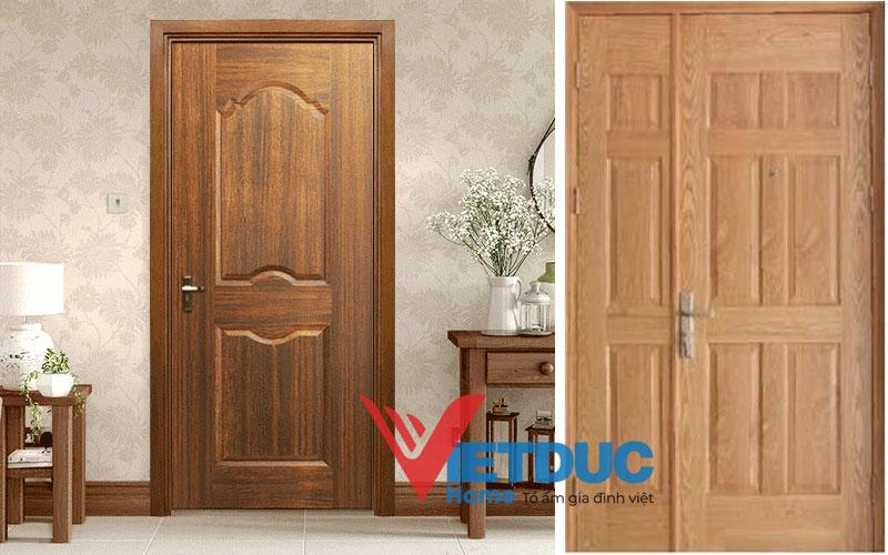 Mẫu cửa gỗ công nghiệp HDF Veneer đẹp