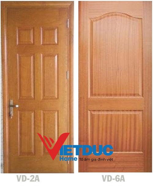 Mẫu Cửa gỗ công nghiệp HDF Veneer Sapele VD-2A và Xoan Đào VD-6A