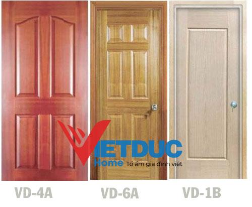 Mẫu Cửa gỗ công nghiệp HDF Veneer Căm Xe VD-4A - Teak VD-6A - Oak VD-1B