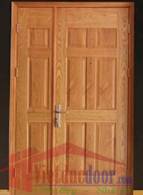 Cửa gỗ công nghiệp 2 cánh HDF Veneer