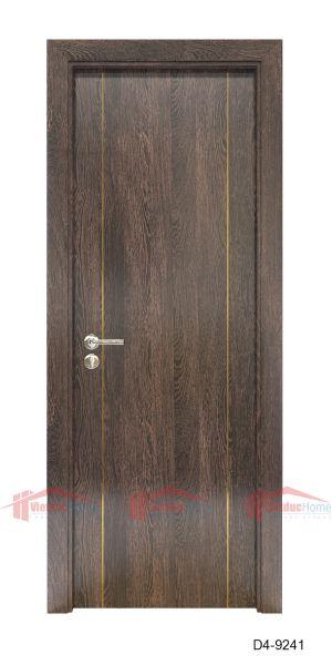 Mẫu cửa gỗ ép công nghiệp 1 cánh cao cấp D4-9241