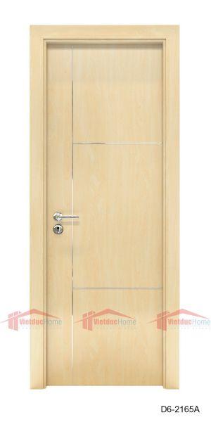 Mẫu cửa gỗ công nghiệp 1 cánh đẹp đơn giản D^-2165A