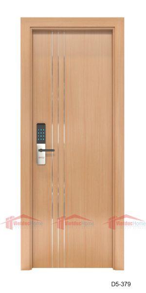 Mẫu cửa ép gỗ công nghiệp 1 cánh đẹp D5-379