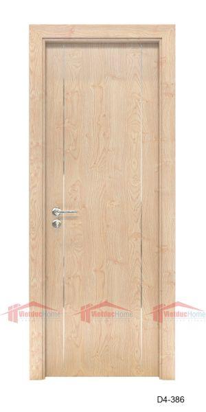 Mẫu cửa gỗ ép công nghiệp 1 cánh đẹp đơn giản D4-386