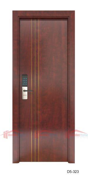 Mẫu cửa gỗ công nghiệp 1 cánh cao cấp D5-323