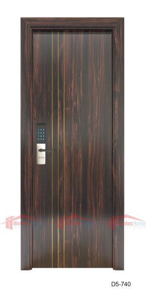 Mẫu cửa gỗ công nghiệp 1 cánh sang trọng D5-740