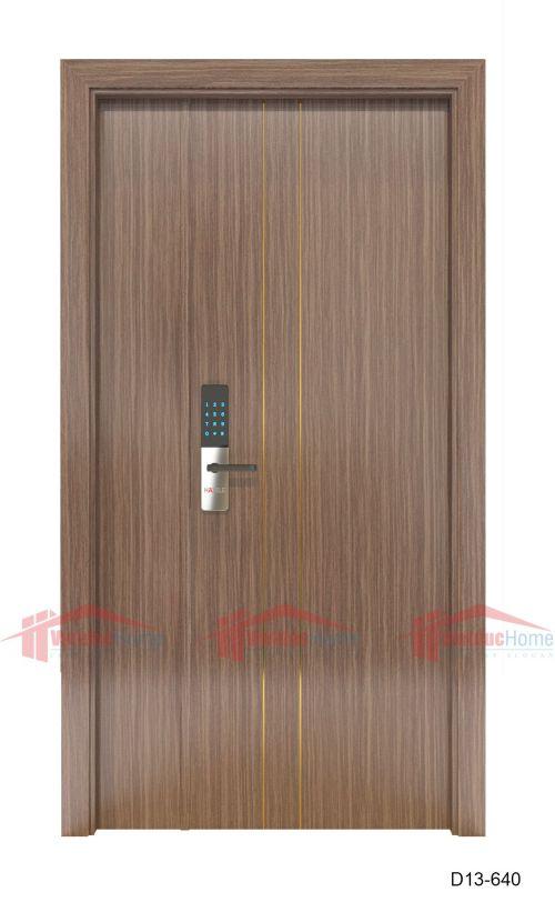 Cửa gỗ ép công nghiệp đẹp D13-640