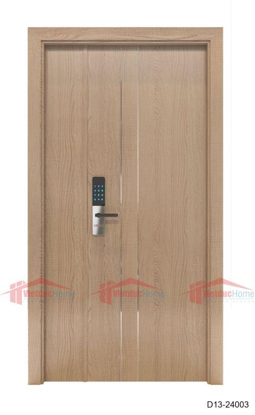 Cửa gỗ ép công nghiệp đơn giản D13-24003