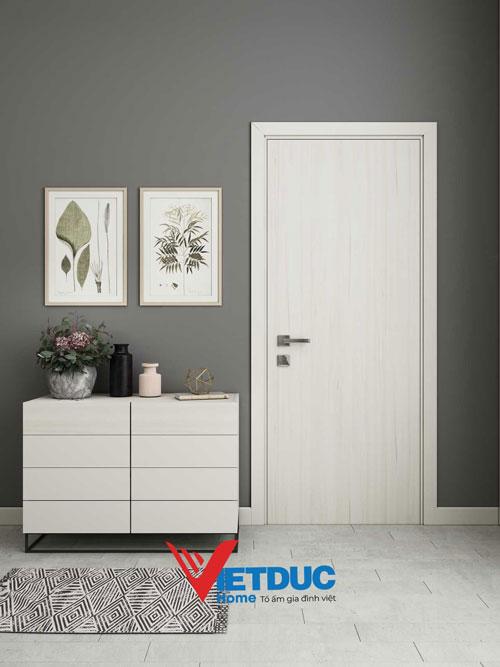 cửa gỗ công nghiệp màu trắng